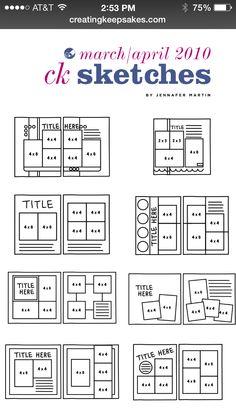 our digital version Sketchbook Layout, Scrapbook Layout Sketches, Scrapbook Templates, Journal Layout, Scrapbook Paper Crafts, Scrapbooking Layouts, Scrapbook Journal, Scrapbook Cards, Creating Keepsakes