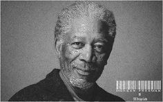 Reaction Diffusion Portrait of Morgan Freeman.
