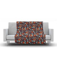 "KESS InHouse Retro Tile Throw Blanket Size: 80"" L x 60"" W"