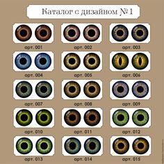 Купить Каталог № 1 Глазки для игрушек ручной работы - комбинированный, глазки для игрушек, Глаза