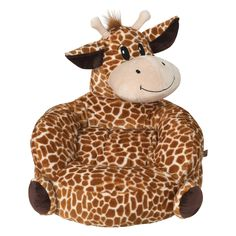 The Trend Lab Children's Plush Giraffe Character Chair provides your little one with a cute and cuddly friend that doubles as a great spot for activities. This ultra-soft plush chair has cozy wrap-around arms and a huggable Giraffe seat back. Bear Character, Baby Chair, Toddler Chair, Trends, Kids Furniture, Furniture Logo, Retro Furniture, Rooms Furniture, Furniture Buyers