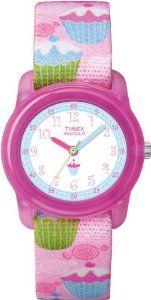 Timex Kids' T7B886 Analog Cupcakes Elastic Fabric Strap Watch