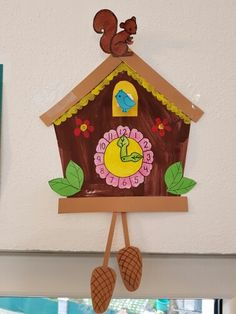 """Cuckoo clock - classroom decoration.  Made these during our """"time"""" unit."""