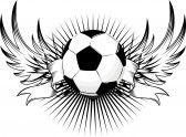 Soccer Tattoo with banner Soccer Player Tattoos, Sport Tattoos, Full Body Tattoo, Body Tattoos, Jesus Tattoo, I Tattoo, Soccer Backgrounds, Graffiti Lettering, Tattoo Ideas