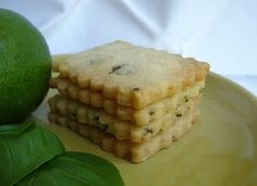 basil lime shortbread cookies (perhaps with confectioner's sugar/lemon icing?)