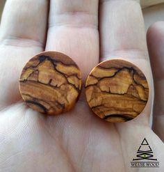 Bethlehem Olive Wood Plugs Organic Handmade Wooden Ear Plugs