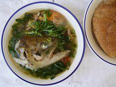 How to make tom hua pa - Lao fish head soup - Padaek Fish Recipes, Seafood Recipes, Asian Recipes, Soup Recipes, Ethnic Recipes, Laos Recipes, Fish Head Soup, Pickled Mustard Greens, Laos Food