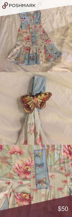 A blugirl blumarine pattern dress. Beautiful floral and butterfly pattern dress. Blumarine Dresses Mini