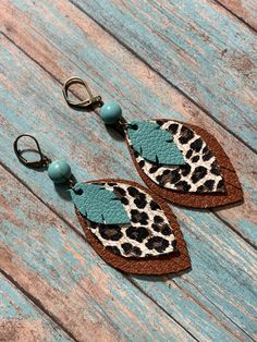 Your place to buy and sell all things handmade - Leather Feather Earrings with . - Your place to buy and sell all things handmade – Leather Feather Earrings with brown leather and - Dainty Earrings, Feather Earrings, Silver Hoop Earrings, Beaded Earrings, Beaded Jewelry, Statement Earrings, Stud Earrings, Silver Hoops, Flower Earrings