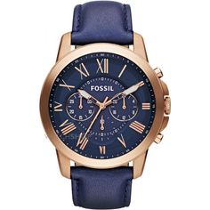 Mens Fossil Grant Chronograph Watch FS4835