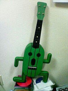 Final Fantasy Cactuar ukulele.