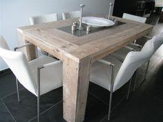 Vinyl Steigerhout Look : Best tafel van steigerhout met zink images diner