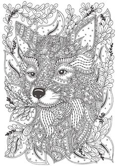 Hand-drawn fox for coloring