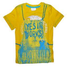 Diesel Tefiny slim tee shirt - TrendyBrandyKids - European trendy clothes for boys and girls. Catimini, Desigual, Deux par Deux, Diesel, Halabaloo, Ikks, Jean Bourget, Marese, Me Too, Mim Pi, Pom Pom Casual.