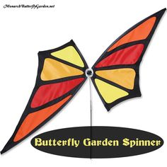 Butterfly Gift Ideas for Gardeners- this unique butterfly garden spinner means there will always be monarch wings fluttering around the garden.