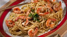 Get Shrimp Scampi with Linguini Recipe from Food Network
