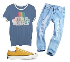"""❤️"" by tayjayne8 on Polyvore featuring Junk Food Clothing and Converse"