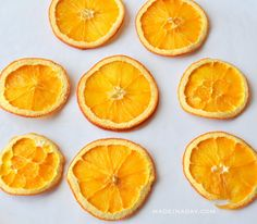 Easy oven dried dehydrated orange lemon slices madeinaday.com