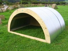 Animal Arks for quality animal arks, pigs arks, poultry arks, sheep and field shelters Chicken Shelter, Sheep Shelter, Goat Shelter, Goat Playground, Playground Ideas, Sheep House, Field Shelters, Miniature Goats, Goat House