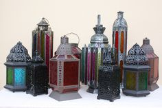 Moroccan Lanterns - The different shapes and colors look AMAZING together.
