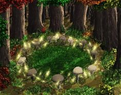 According to Irish legend, Fairy Rings are the location of gateways into the fairy kingdom. The physical appearance of a circle of mushrooms or flowers are commonly found throughout the Emerald Isle. Folklore states that a fairy ring appears where a Lepre Books Art, Irish Mythology, Dragons, Fairy Ring, All Nature, Fairy Art, Magical Creatures, Fairy Houses, Leprechaun