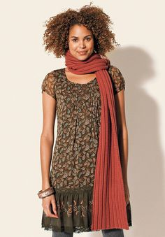 New tunic coming. I think it will work great with boots for fall.