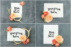 ValuePack: 4 Feminine Chalk Mockups by WeLivedHappilyEverAfter on Creative Market