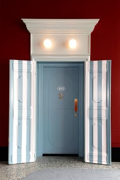 bold stripes in a doorway