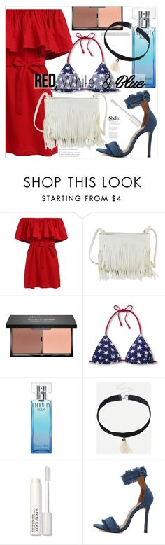"""Red,White,&Blue Fashion"" by mycherryblossom ❤ liked on Polyvore featuring Calvin Klein and Smashbox"