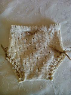 feito e punto: Cómo se hace... una braguita de perlé para tu bebé. Fácil fácil. Más