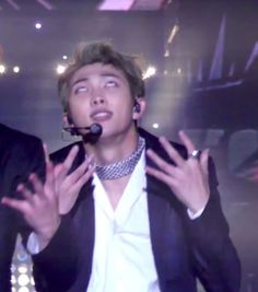 Thats Namjoon reacting to Jin and his sweet moves