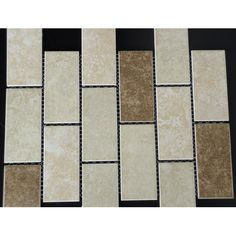 "Found it at Wayfair - Classique 2"" x 4"" Porcelain Subway Tile in Beige and Ivory"