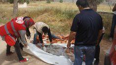 الهلال الاحمر الليبي يعثر على سبعة جثت بإحدى معسكرات تاجوراء