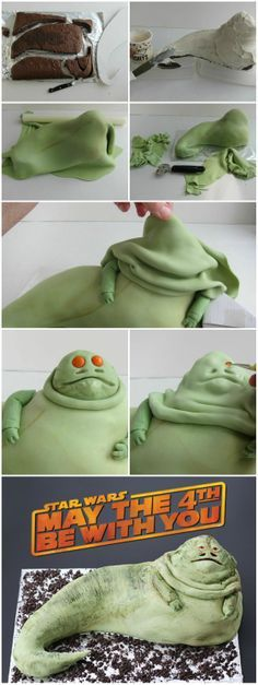 JABBA THE HUTT CAKE #StarWarsDay #MayThe4thBeWithYou