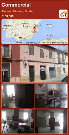 Commercial for Sale in Pinoso, Alicante, Spain with 1 bedroom, 1 bathroom - A Spanish Life Alicante Spain, Open Up, Townhouse, Maine, Spanish, Commercial, Restaurant, Street, Building