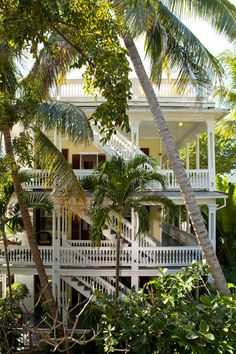 Key West porches provide an enviable outdoor lifestyle. Fall in love with a house in a whole new way. Beach Cottage Style, Beach House Decor, The Places Youll Go, Places To Go, Key West Style, Key West Florida, Florida Keys, Florida Usa, British Colonial Style