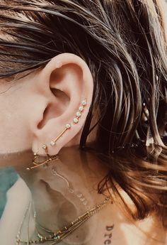 14kt gold eargear