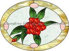 Resultado de imagen de gardenia stained glass pattern