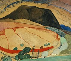 Grace Cossington Smith (Australia 1892-1984), Black Mountain, watercolor with gouache over pencil, c. 1931. Private collection.