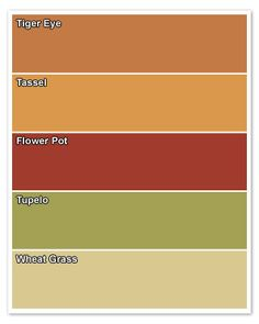 Palettes for High-Traffic Homes - love these colors!