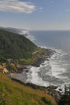 Cape Perpetua Scenic Area Oregon coast scenic viewpoint near Civilian Conservation Corps CCC West Shelter