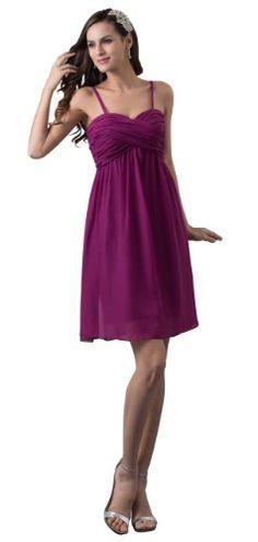 Herafa Negligee Empire-Linie Prom Kleider Elegant Geraffte Violett: Amazon.de: Bekleidung