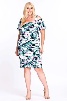 London Times Plus Size Off Shoulder Mother of Bride Dress  The Dress Outlet Plus Size Short Dresses, Bride Groom Dress, Plus Size Shorts, Nice Legs, Playing Dress Up, Mother Of The Bride, Cocktails, Church Wedding, Evening Party