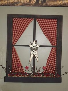 Primitive window - would make a great design for a removable window decal!