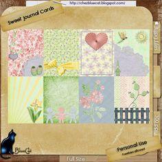 FREE Sweet Journal Cards | ♥ Bienvenue chez BlueCat ♥
