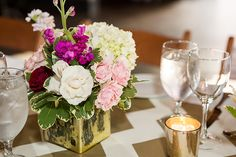 Eclectic Pink and Gold Wedding at The Cookery in Durham, NC - Southern Bride & Groom