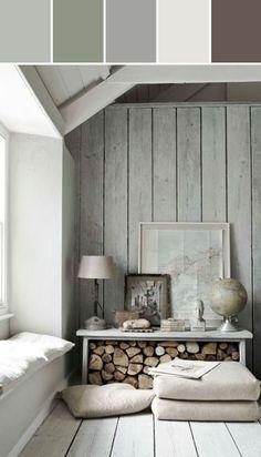 Rustic  Designed By Ange Gaffke via Stylyze Earth Grays