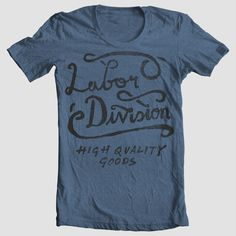 Designs for Labor Division Clothing by Tom Chalky, via Behance