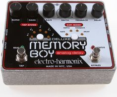 electro-harmonix Deluxe Memory Boy with Tap Tempo Delay Pedal