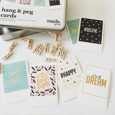 Typo // how cute are these hang and peg cards? #obsessed @typoshop by happymail__